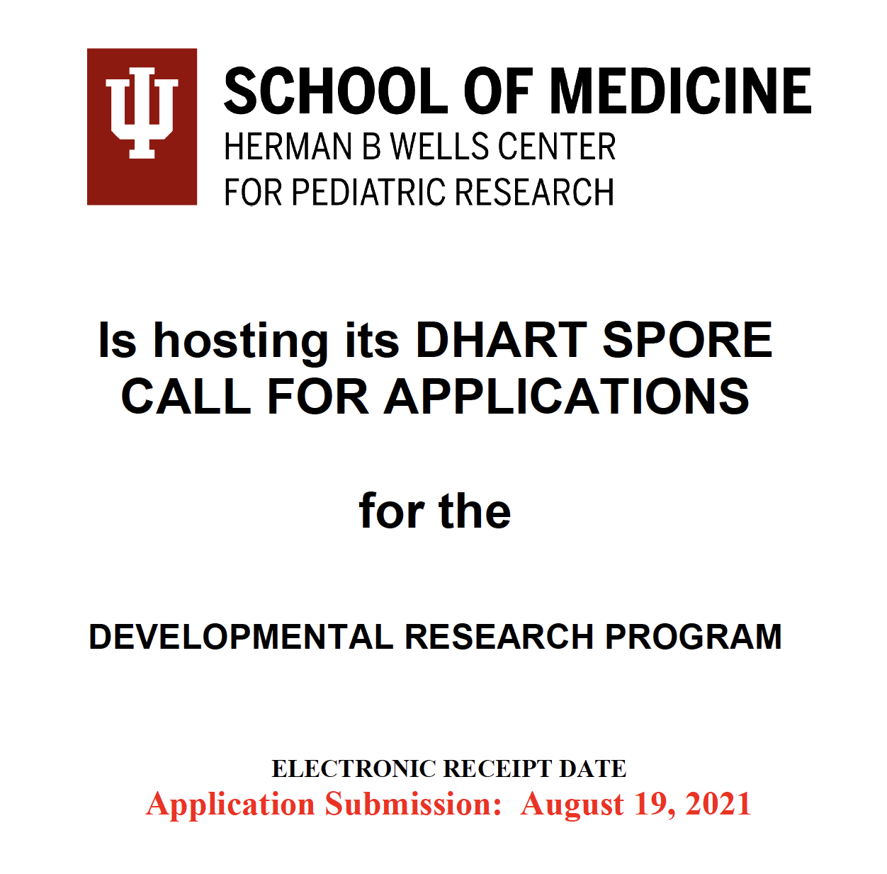 DHART SPORE DRP 2021 Call for Applications